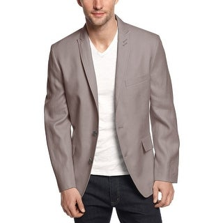 INC International Concepts Slim Fit Taupe Linen Twill Sportcoat X-Large Blazer