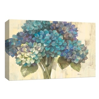 """PTM Images 9-153863  PTM Canvas Collection 8"""" x 10"""" - """"Turquoise Hydrangea"""" Giclee Flowers Art Print on Canvas"""
