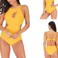 Womens One Piece Swimsuits Tummy Control Swimwear Plus Size Bathing Suits