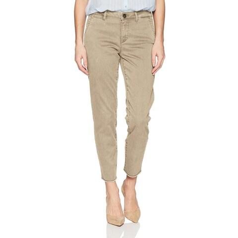 NYDJ Beige Womens Size 14 Skinny Frayed Ankle Chinos Stretch Pants
