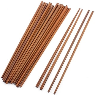 Home Kitchen Restaurant Wooden Chinese Style Chopsticks 16.5 Inch Long 12 Pairs - Wood
