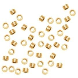 14K Gold Filled Crimp Beads 2 x 1mm (50)