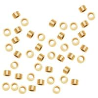 14K Gold Filled Crimp Beads 2 x 1mm (50)