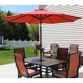 Sunnydaze Aluminum 9 Foot Solar Patio Umbrella with Tilt & Crank - Thumbnail 14