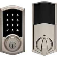 Kwikset 919TRL-S  Premis Touchscreen Smart Lock Single Cylinder Deadbolt with Bluetooth and Apple HomeKit Technology