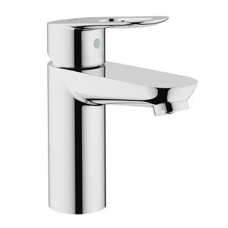 Grohe 23 085  BauLoop Single Hole Bathroom Faucet with SilkMove and WaterCare Technologies - Starlight Chrome