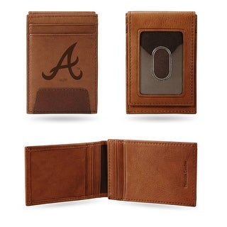 4 Brown MLB Atlanta Braves Front Pocket Wallet N A
