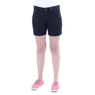 Womens Black Casual Straight leg Short Size 4