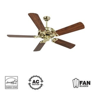 "Craftmade K10975 CXL 52"" 5 Blade Energy Star Indoor Ceiling Fan - Blades Included - polished brass"