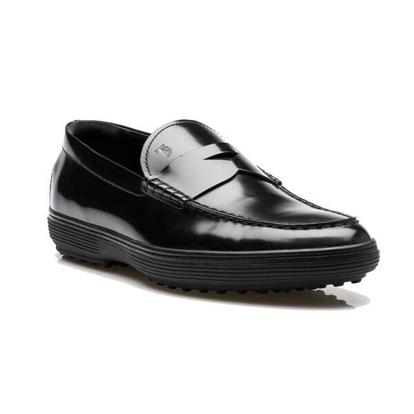 dfb06230de0a8 Shop Tod s Men s Patent Leather Moccasins Loafer Shoes Black - Free ...