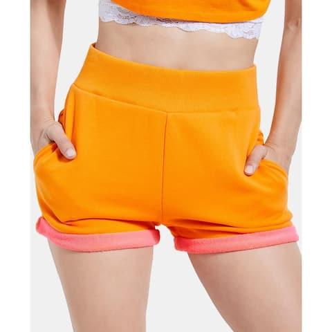 Guess Women's Shorts Mango Tango Orange Size XL Two-Toned Rolled