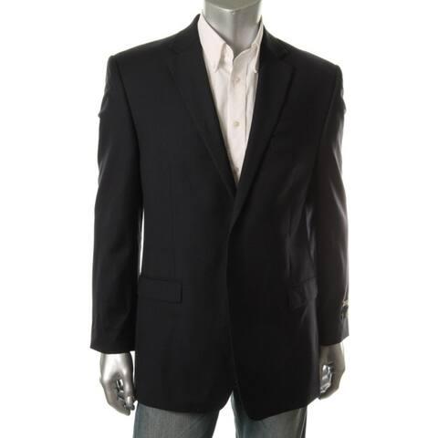 Ralph Lauren Mens Two-Button Suit Jacket Wool Regular Fit - Navy - 38s