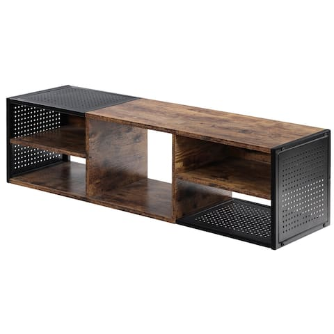 HOMOOI Floating Hutch Wall Mounted TV Stand, 40.9x11.6x11.6