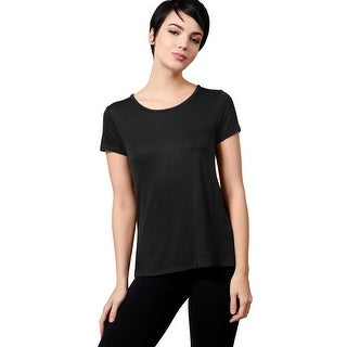 NE PEOPLE WOMEN'S Plain Light Weight Round Neck Shirt with Front Chest Pocket (NEWT101)