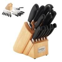 Hampton Forge 14 Piece Metallic Signature Argentum Soft Grip Cutlery Block Set