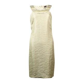 Laundry Women's Beaded Halter Neckline Dress - 12