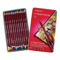 Derwent Pastel Pencil Set with Tin, Assorted Colors, Set of 12