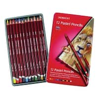Derwent Pastel Pencil Set with Tin, Assorted Colors, Set of 36