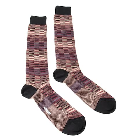Missoni GM00CMU5241 0004 Burgundy/Tan Knee Length Socks
