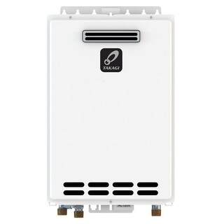Takagi T-D2-OS-NG 10.0 GPM Commercial Natural Gas Outdoor Tankless Water Heater from the Tankless Collection - White - N/A