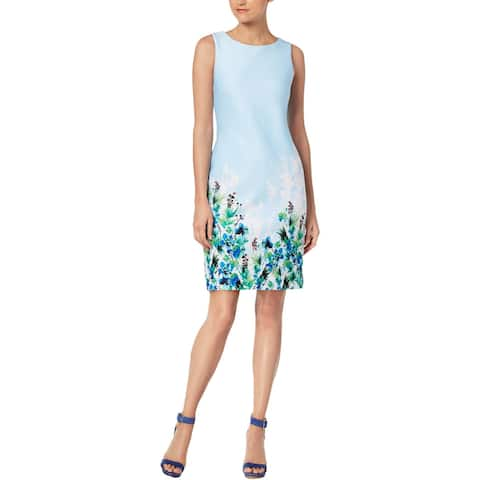 35e5ff8aa72 Calvin Klein Womens Wear to Work Dress Floral Print Sleeveless