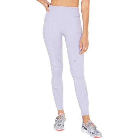 Nike Womens Athletic Tights High Rise Fitness - Purple - L
