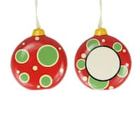 """3.25"""" Home for the Holidays Blank Monogram Christmas Disk Ornament"""