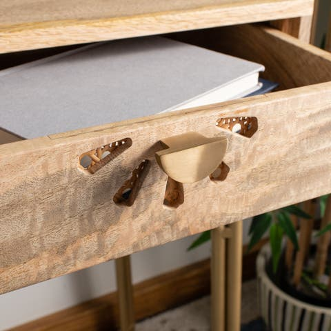 Safavieh Lily Modern 2-drawer Natural Wood Desk