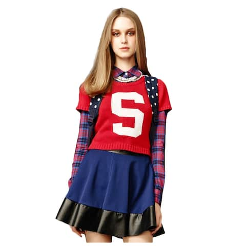 Aeropostale Womens Spencer Cropped Knit Sweater