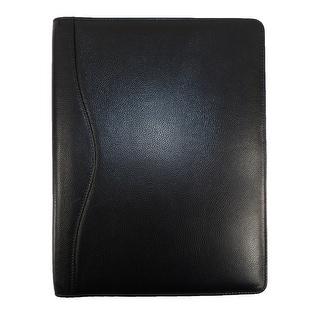 CTM® Leather Full Size Portfolio - Black