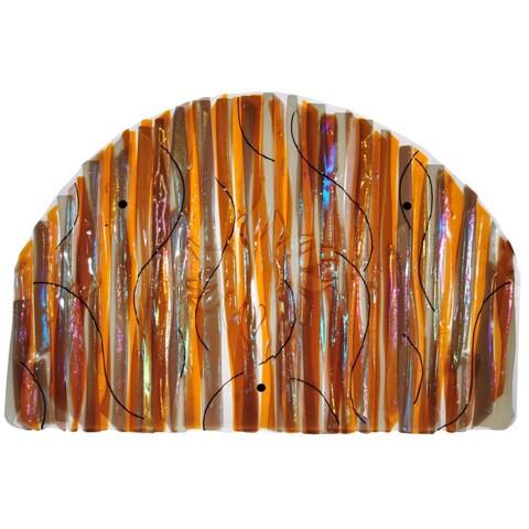 """Meyda Tiffany 108062 32"""" W X 22"""" H Marina Sun Fused Glass Wall Art - n/a"""