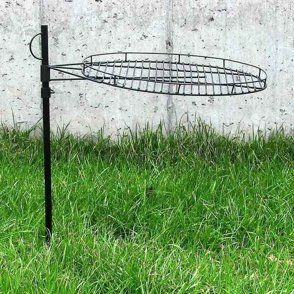 Sunnydaze Steel Height-Adjustable Fire Pit Cooking Grate - 24-Inch Diameter