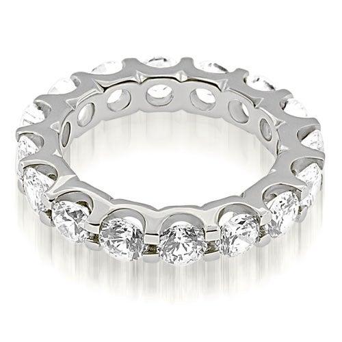 4.00 cttw. 14K White Gold Classic U-Prong Round Cut Diamond Eternity Band Ring