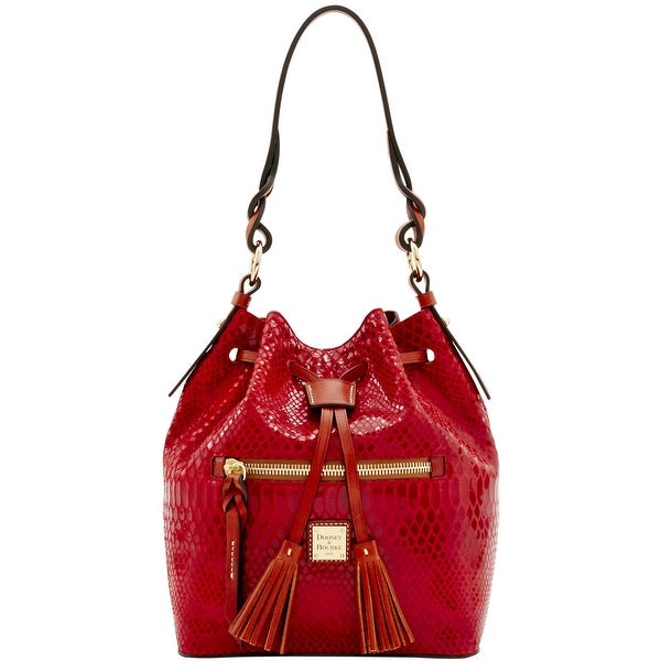 Dooney & Bourke Snake Small Logan (Introduced by Dooney & Bourke at $288 in Nov 2016) - Red