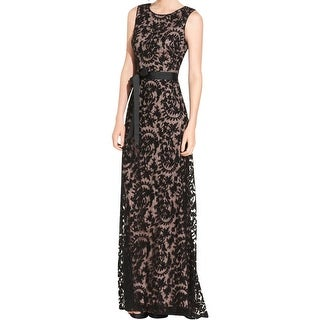 Adrianna Papell Womens Evening Dress Lace Embroidered