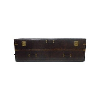 Rectangular Leather Bedroom Storage trunk Chest