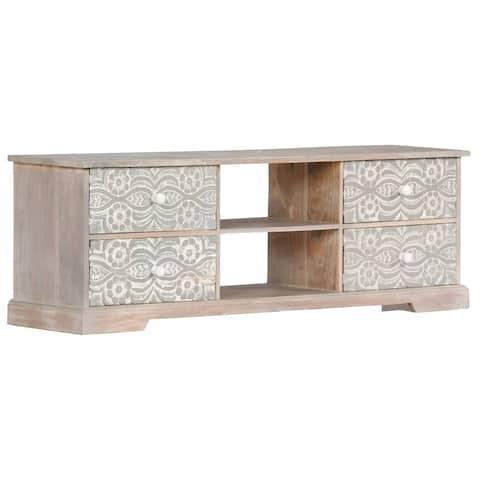 "vidaXL TV Cabinet 47.2""x11.8""x15.7"" Solid Acacia Wood"