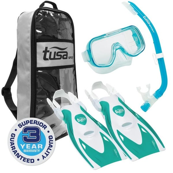 0ac9d4bc3aee Shop TUSA Sport Youth Mini-Kleio Mask, Snorkel, and Fins Travel Set ...