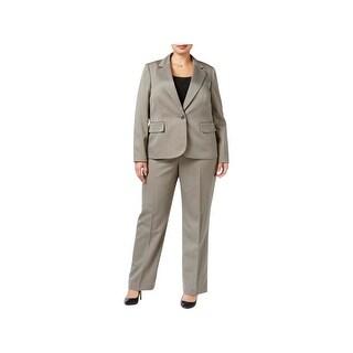Le Suit Womens Plus Pant Suit 2PC Striped