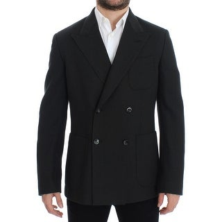 Dolce & Gabbana Green brown double breasted blazer - it48-m