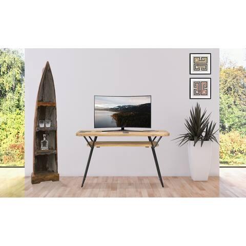 Chic Teak Recycled Teak Wood Brux Art Deco Console / Serving Table