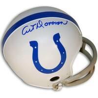 Art Donovan signed Baltimore Colts TB 2bar Mini Helmet