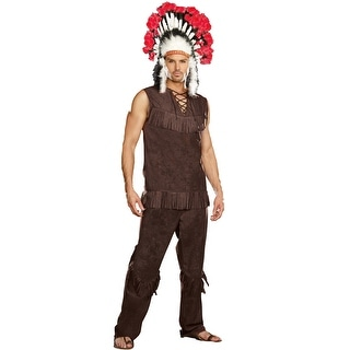 Dreamgirl Chief Long Arrow Adult Costume - Brown