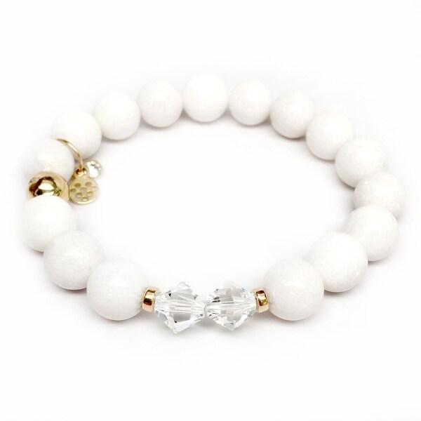 "White Jade Paris 7"" Bracelet"