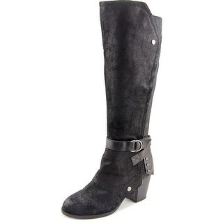 Fergie Total Women Round Toe Leather Knee High Boot