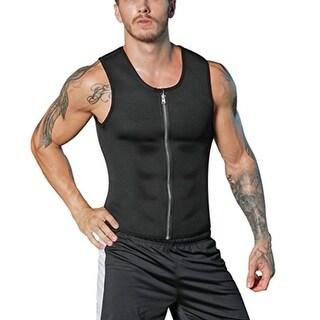 Men Neoprene Slimming Vest Waist Trainer Corset Hot Body Shaper Workout