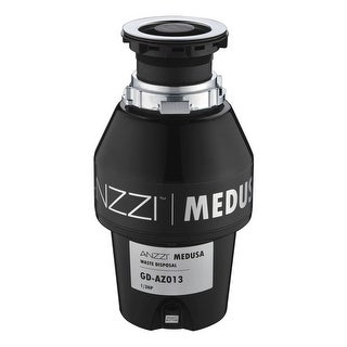 Anzzi GD-AZ013 Medusa 1/3 HP Continuous Garbage Disposal - Power Cord Included