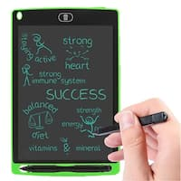 Ink Free Paperless 8.5-inch Writing & Drawing Graphics Tablet for Kids (One Touch Erase + Lightweight + No Mess) - Green