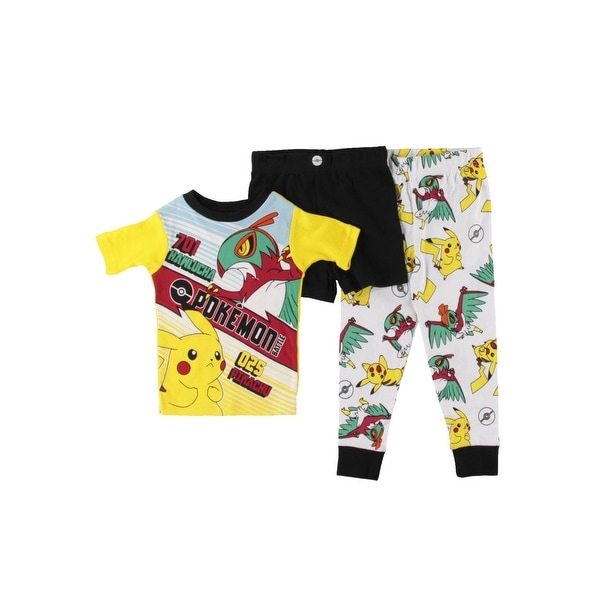 fbdcad4374 Shop Pokemon Boys Hawlucha Pikachu Pajama Set 3PC - 4 - Free Shipping On  Orders Over $45 - Overstock - 20744294