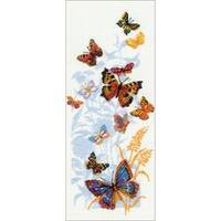 """8.75""""X19.75"""" 15 Count - Russian Butterflies Counted Cross Stitch Kit"""
